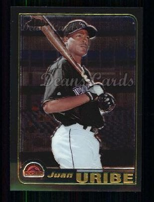 2001 Topps Traded Chrome #199 T Juan Uribe