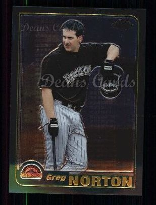 2001 Topps Traded Chrome #55 T Greg Norton