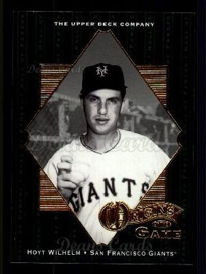 # 53 Hoyt Wilhelm OG - 2001 Upper Deck Hall of Famers