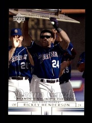 2002 Upper Deck #498  Rickey Henderson
