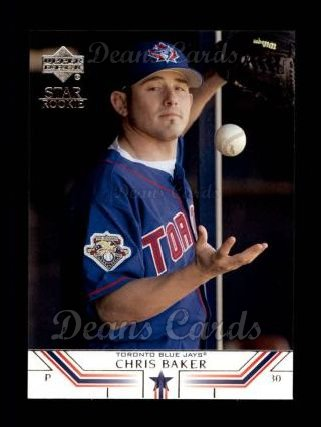 2002 Upper Deck #505   -  Chris Baker Star Rookie