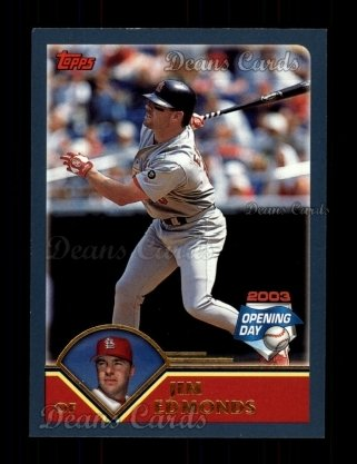 2003 Topps Opening Day #108  Jim Edmonds