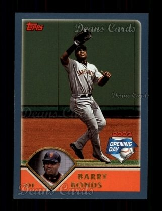 2003 Topps Opening Day #12  Barry Bonds