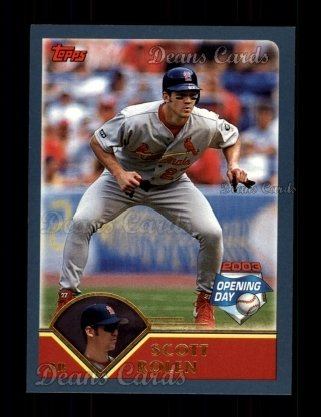 2003 Topps Opening Day #26  Scott Rolen