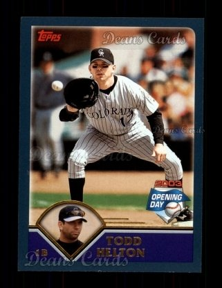 2003 Topps Opening Day #40  Todd Helton
