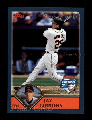 2003 Topps Opening Day #97  Jay Gibbons
