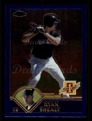 2003 Topps Chrome Traded #185 T  -  Ryan Shealy First Year