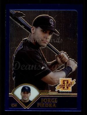 2003 Topps Chrome Traded #190 T  -  Jorge Piedra First Year