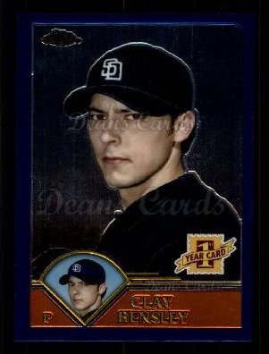 2003 Topps Chrome Traded #237 T  -  Clay Hensley First Year