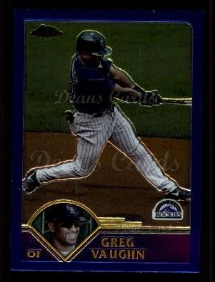 2003 Topps Chrome Traded #4 T Greg Vaughn