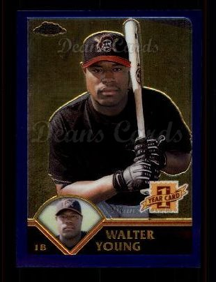 2003 Topps Chrome #220   -  Walter Young First Year