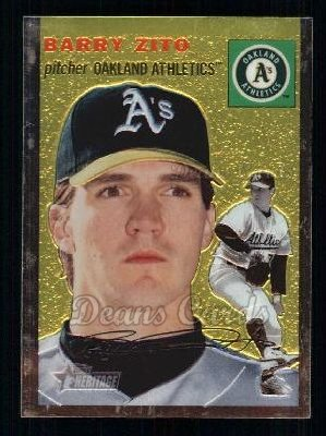 2003 Topps Heritage Chrome #12  Barry Zito