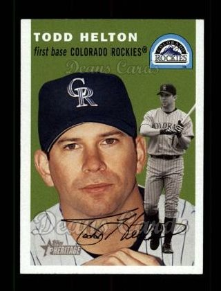 2003 Topps Heritage #20 GRN Todd Helton