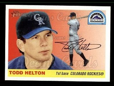 2004 Topps Heritage #70 WHI Todd Helton