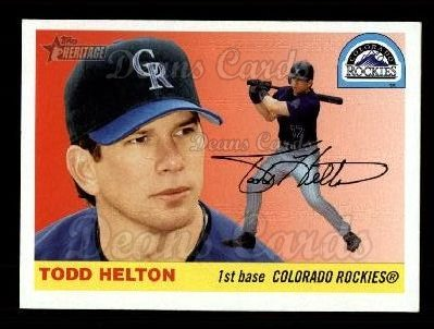 2004 Topps Heritage #70 PUR Todd Helton