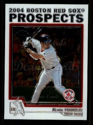 2004 Topps Chrome Traded #100 T  -  Kevin Youkilis Prospect
