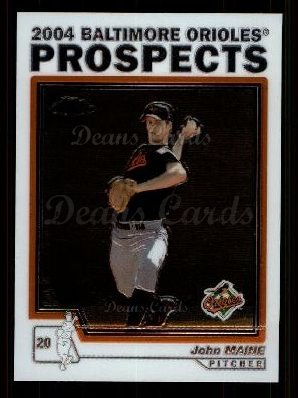 2004 Topps Chrome Traded #101 T  -  John Maine Prospect