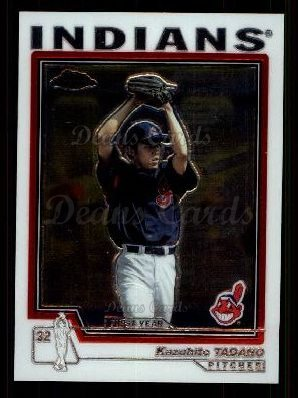 2004 Topps Chrome Traded #116 T  -  Kazuhito Tadano First Year