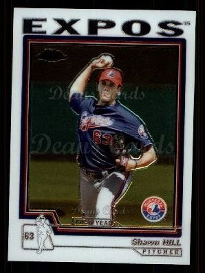 2004 Topps Chrome Traded #145 T  -  Shawn Hill First Year