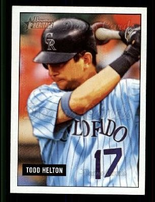 2005 Bowman Heritage #162  Todd Helton