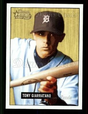 2005 Bowman Heritage #218   -  Tony Giarratano First Year