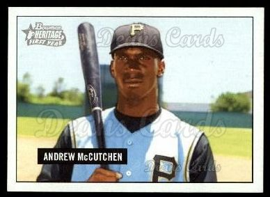 2005 Bowman Heritage #330 DP  -  Andrew McCutchen First Year Draft Pick