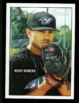 2005 Bowman Heritage #334 A  -  Ricky Romero First Year
