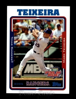 2005 Topps Opening Day #160  Mark Teixeira