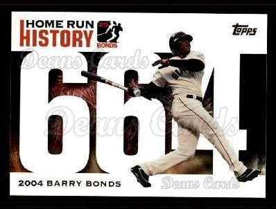 2005 Topps Barry Bonds HR History #664   -  Barry Bonds Home Run 664