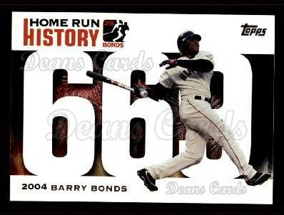 2005 Topps Barry Bonds HR History #669   -  Barry Bonds Home Run 669