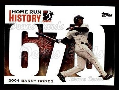 2005 Topps Barry Bonds HR History #670   -  Barry Bonds Home Run 670