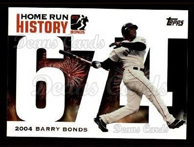 2005 Topps Barry Bonds HR History #674   -  Barry Bonds Home Run 674