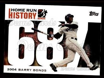 2005 Topps Barry Bonds HR History #687   -  Barry Bonds Home Run 687