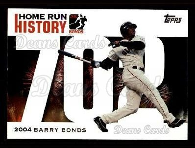 2005 Topps Barry Bonds HR History #702   -  Barry Bonds Home Run 702