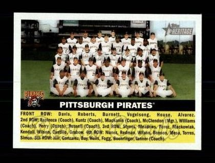 2005 Topps Heritage #121   Pittsburgh Pirates Team