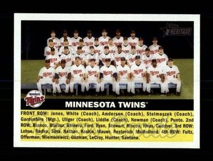 2005 Topps Heritage #146   Minnesota Twins Team