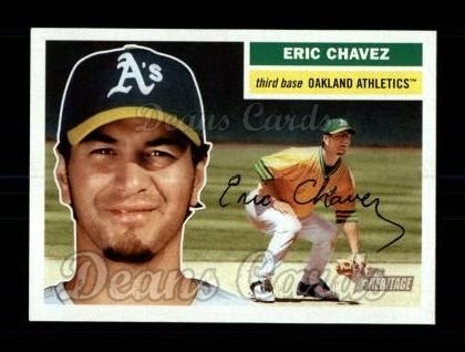 2005 Topps Heritage #155 GRN Eric Chavez