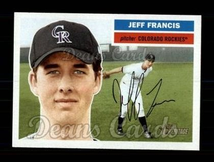 2005 Topps Heritage #17  Jeff Francis
