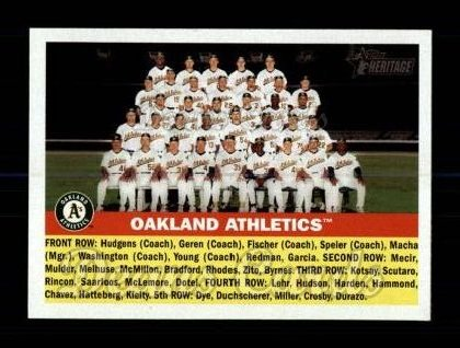 2005 Topps Heritage #236   Oakland Athletics Team