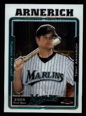 2005 Topps Chrome Update #142   -  Tony Arnerich First Year