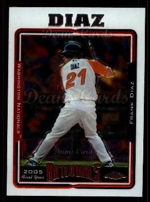 2005 Topps Chrome Update #195   -  Frank Diaz First Year