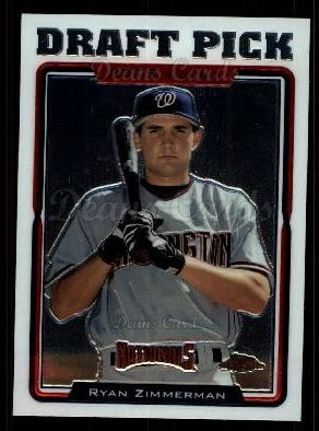 2005 Topps Chrome Update #208   -  Ryan Zimmerman First Year