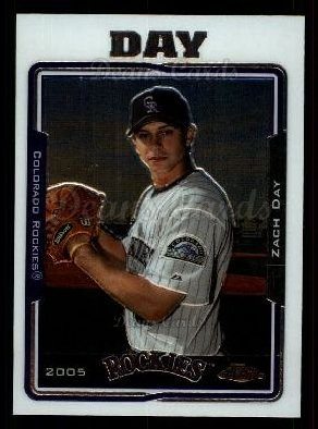 2005 Topps Chrome Update #80  Zach Day