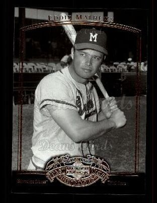 2005 Upper Deck Past Time Pennants #24  Eddie Mathews