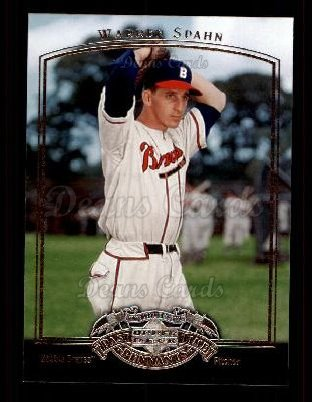 2005 Upper Deck Past Time Pennants #85  Warren Spahn