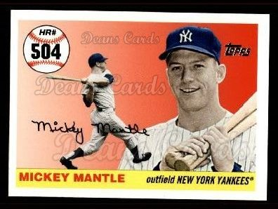 2006 Topps Mantle HR History #504   -  Mickey Mantle Home Run 504