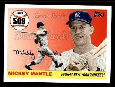 2006 Topps Mantle HR History #509   -  Mickey Mantle Home Run 509