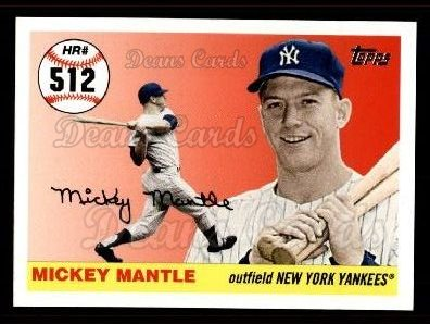 2006 Topps Mantle HR History #512   -  Mickey Mantle Home Run 512