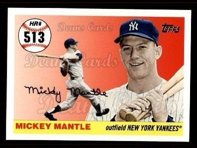 2006 Topps Mantle HR History #513   -  Mickey Mantle Home Run 513