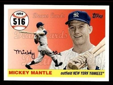 2006 Topps Mantle HR History #516   -  Mickey Mantle Home Run 516